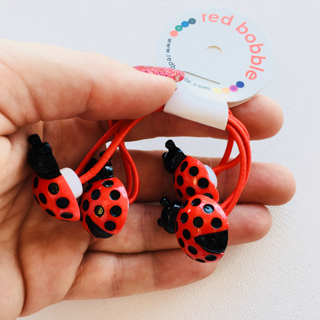 Mini Ladybug Hair Ties