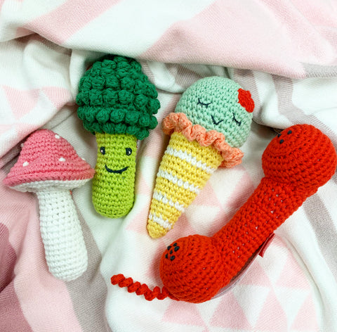 Crochet Rattle - sold separately
