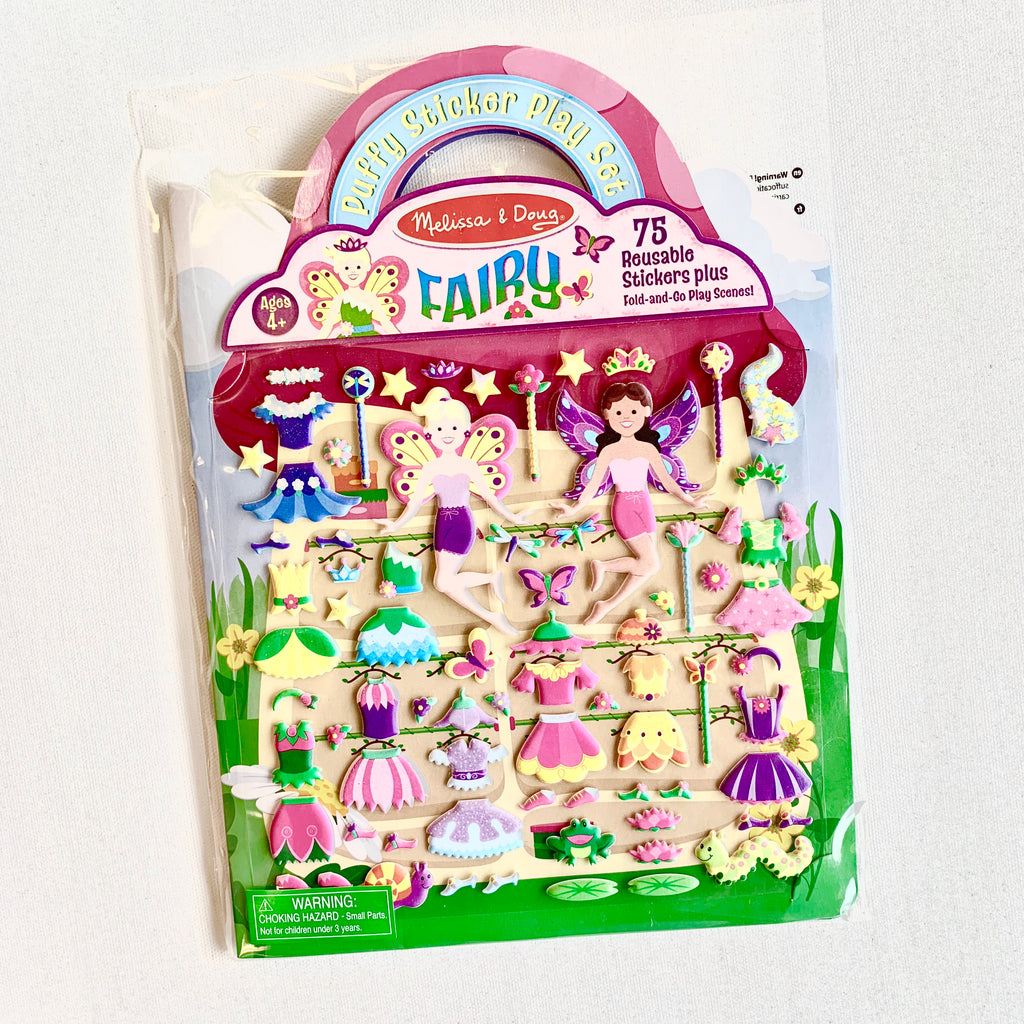 Reusable Puffy Sticker Play Set - Fairies