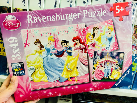 Disney Princesses Puzzle 3 x 49pc