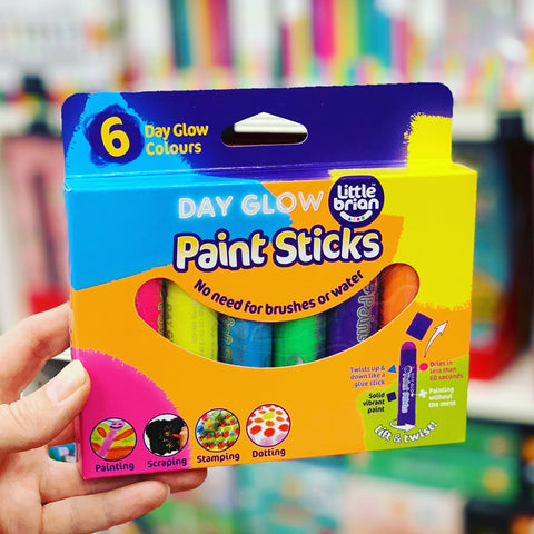Little Brian Paint Sticks - Day Glow 6 pk