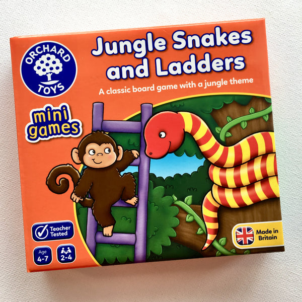 Orchard Toys Mini Game Jungle Snakes and Ladders