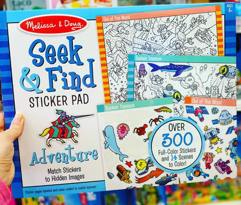 Seek & Find Sticker Pad - Adverture