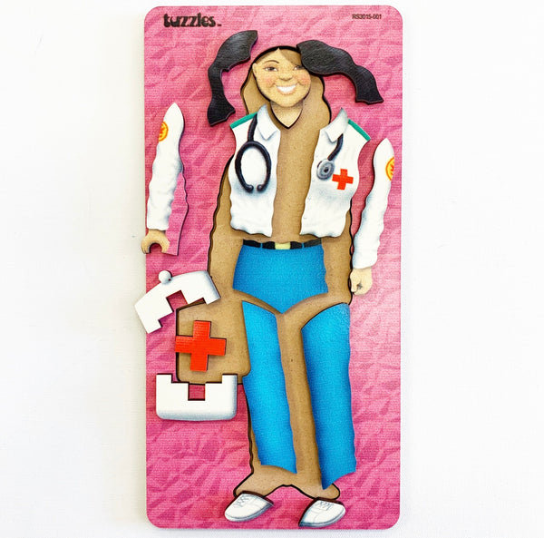 Doctor - Wooden Tray Puzzle - Tuzzles
