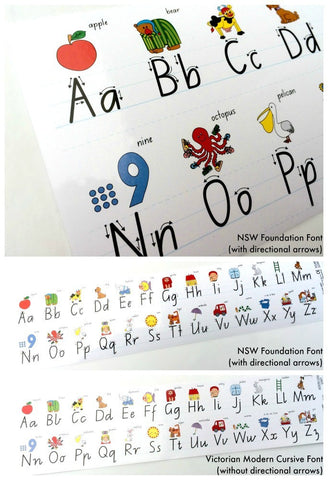 Alphabet Desk Strips - Adhesive