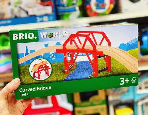 BRIO - Curved Bridge, 4 pieces