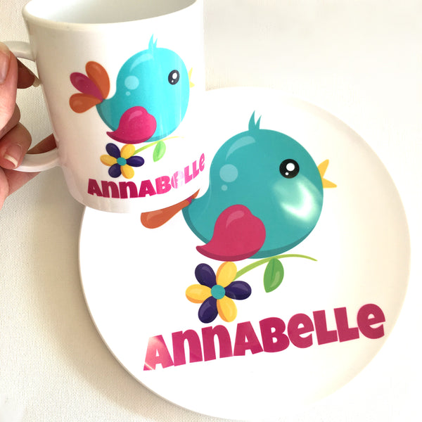 Personalised Mug and Plate Set - Plastic - 200+ DESIGNS