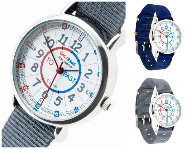 Easyread Time Teacher Watch - Blue Red Face