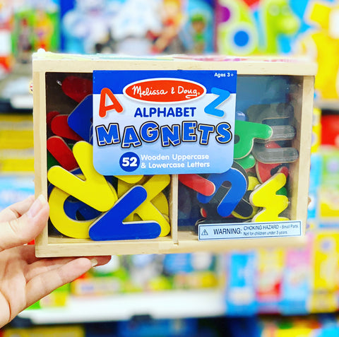 Wooden Alphabet  Letter Magnets 52pc