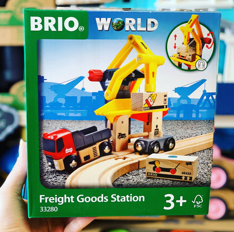 BRIO - Freight Goods Station, 6 pieces