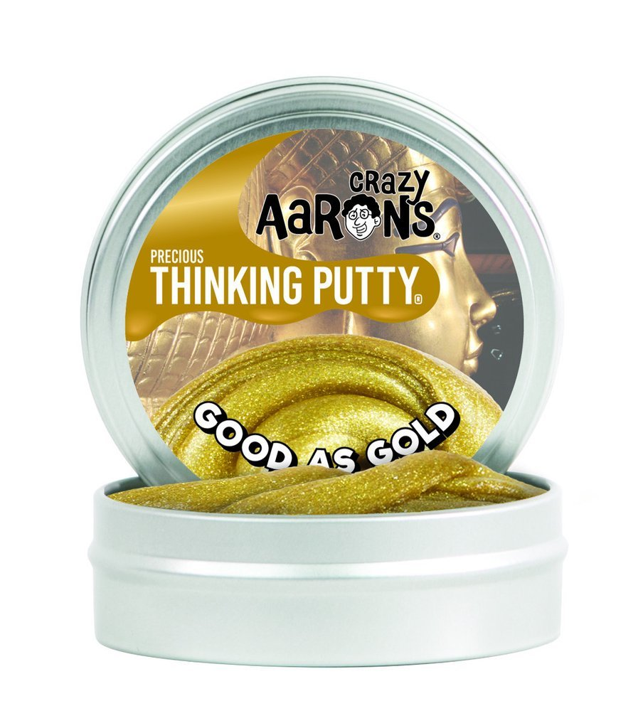 "GOOD AS GOLD | METALLIC THINKING PUTTY 3"" TIN"