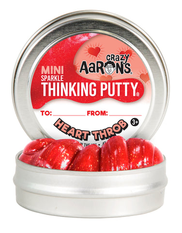 "HEART THROB | SPARKLE THINKING PUTTY 2"" TIN"