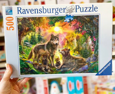 Ravensburger - Wolf Family in Sunshine Puzzle 500pc
