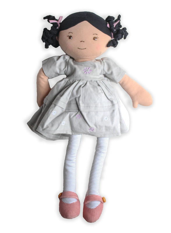 Maliah Linen Doll with Black Hair