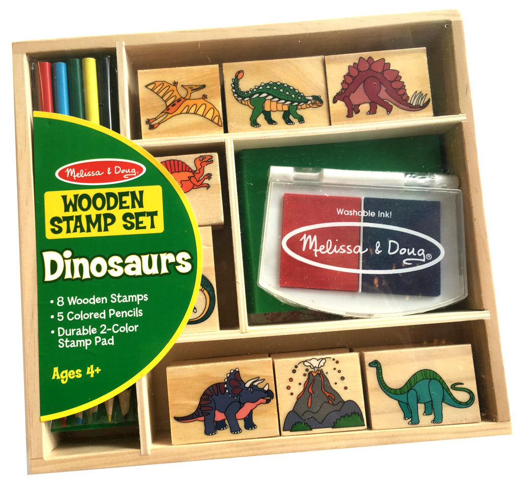 Dinosaur Wooden Stamp Set