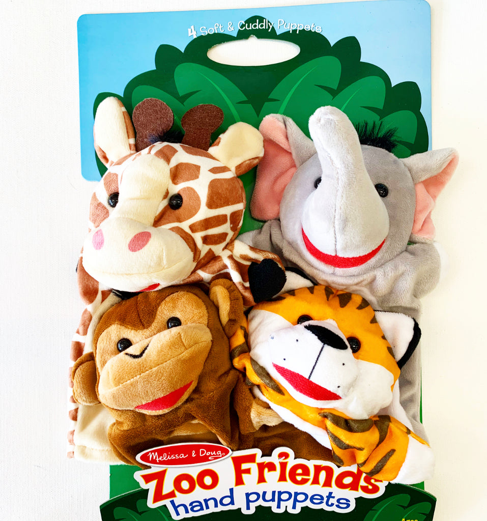 Hand Puppets Zoo Animals 4 Park
