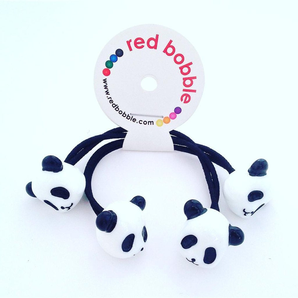 Mini Panda Hair Ties