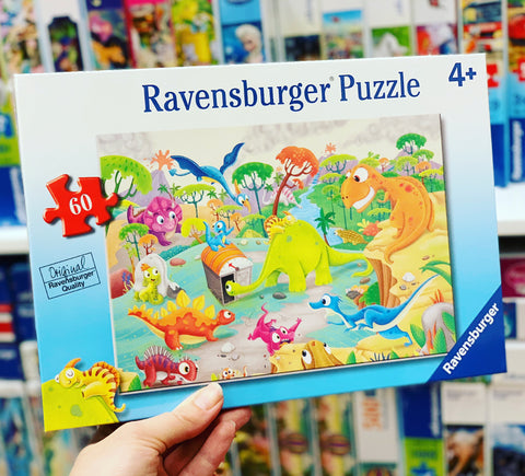 Ravensburger - Time Traveling Dinos Puzzle 60pc
