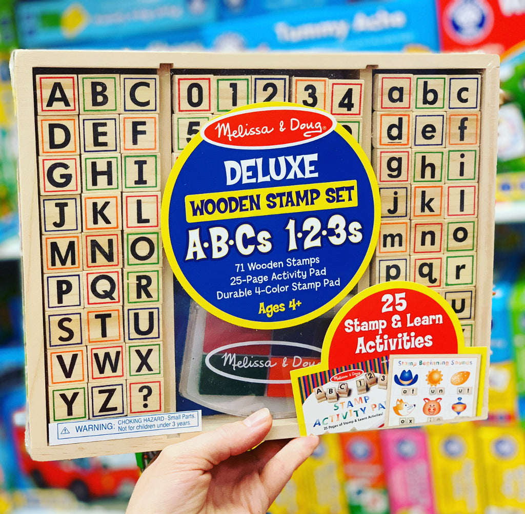 Melissa & Doug Delux Wooden Alphabet Stamp Set