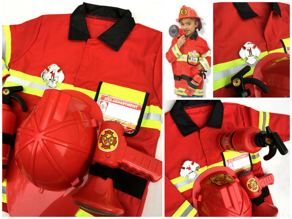 Fireman Dress Up / Role Play Costume Set