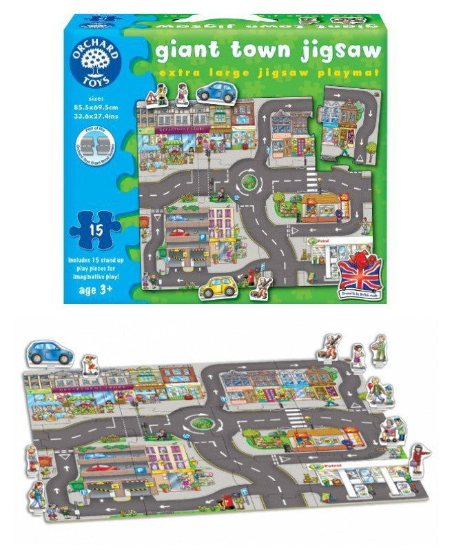 orchard toys giant town jigsaw puzzle the coffee apple
