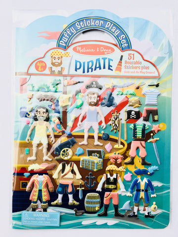 Reusable Puffy Sticker Play Set - Pirate