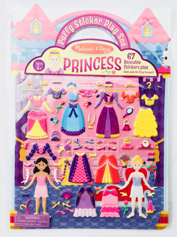 Reusable Puffy Sticker Play Set - Princess