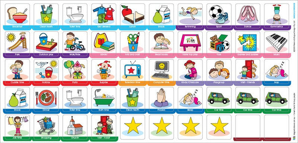 My Busy Day - Magnetic Rewards Chart