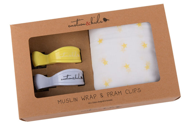 Muslin Wrap and Pram Clip Pack