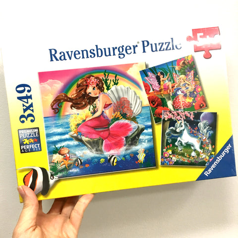 Fantasy Friends 3 x 49pc Ravensburger Puzzle