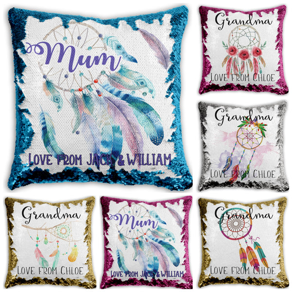 Mother's Day - Personalised Sequin Cushion Cover - Dream Catcher Designs