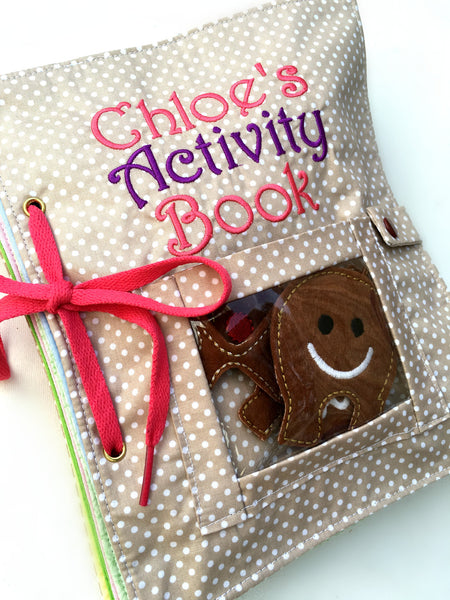 My Activity Cloth Book - Individual Pages OR Full Book $155 - Handmade