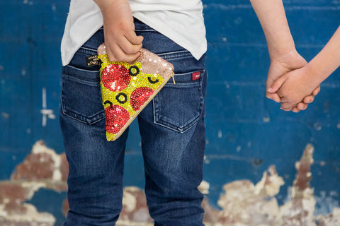 Pizza Sequin Purse