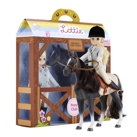 Lottie Pony Club Doll & Pony