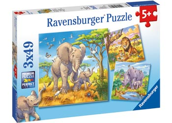 Wild Animals Puzzle 3x49pc