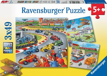 Moving Vehicles Puzzle 3 x 49pc