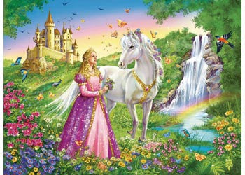 Princess With Horse Puzzle 200 Pc - Ravensburger