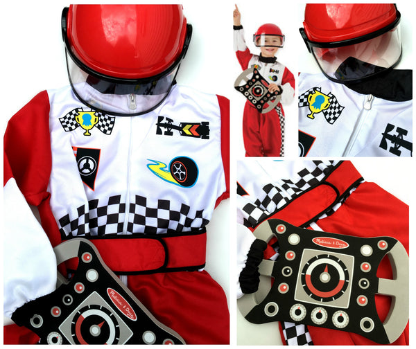 Race Car Driver (F1) Dress Up / Role Play Costume Set