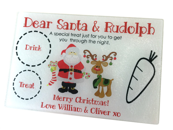 Christmas Personalised Chopping Board, Glass