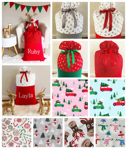 Christmas Personalised Santa Sacks - Handmade to order