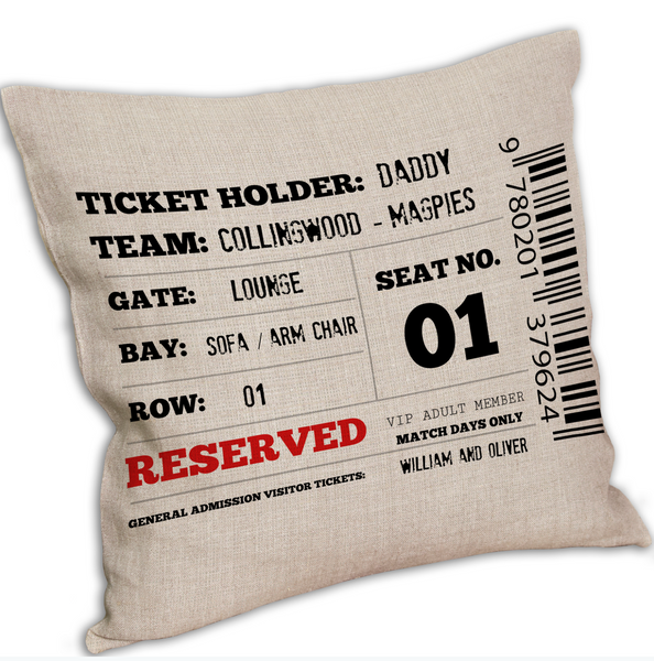 Personalised Sports Reserved Cushion Cover