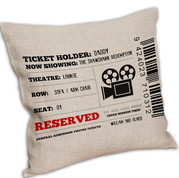 Personalised Movie/TV Show Reserved Cushion Cover