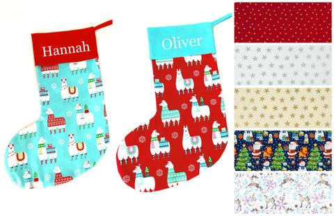 Personalised Christmas Stockings - Handmade to Order