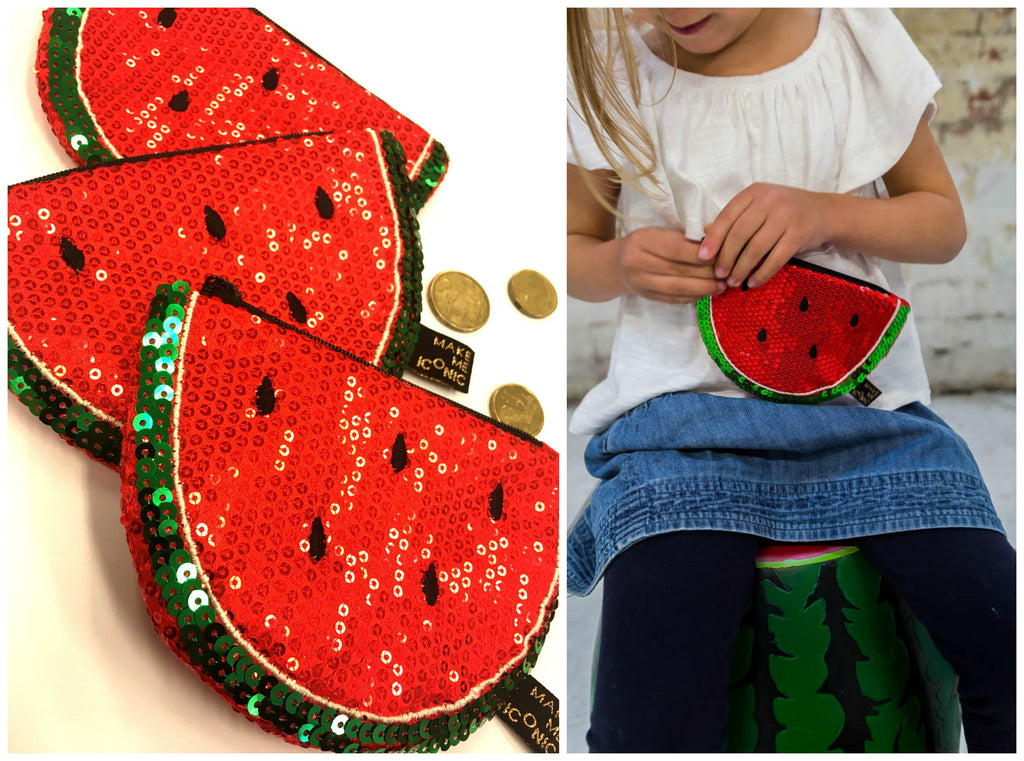 Sequin Purse - Watermelon