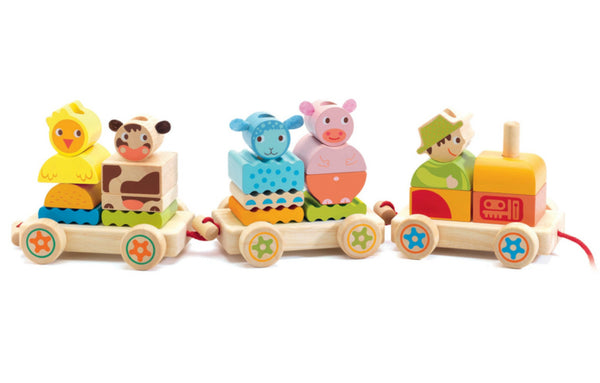 Wooden Peg Train - Djeco
