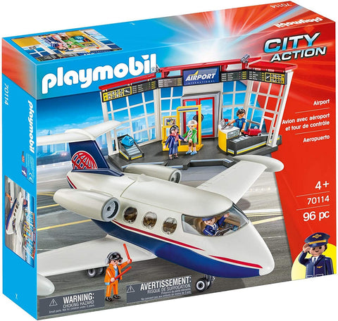 PLAYMOBIL - AIRPORT AND PLANE - 70014