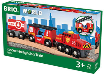 BRIO Vehicle - Rescue Firefighting Train, 4 pieces