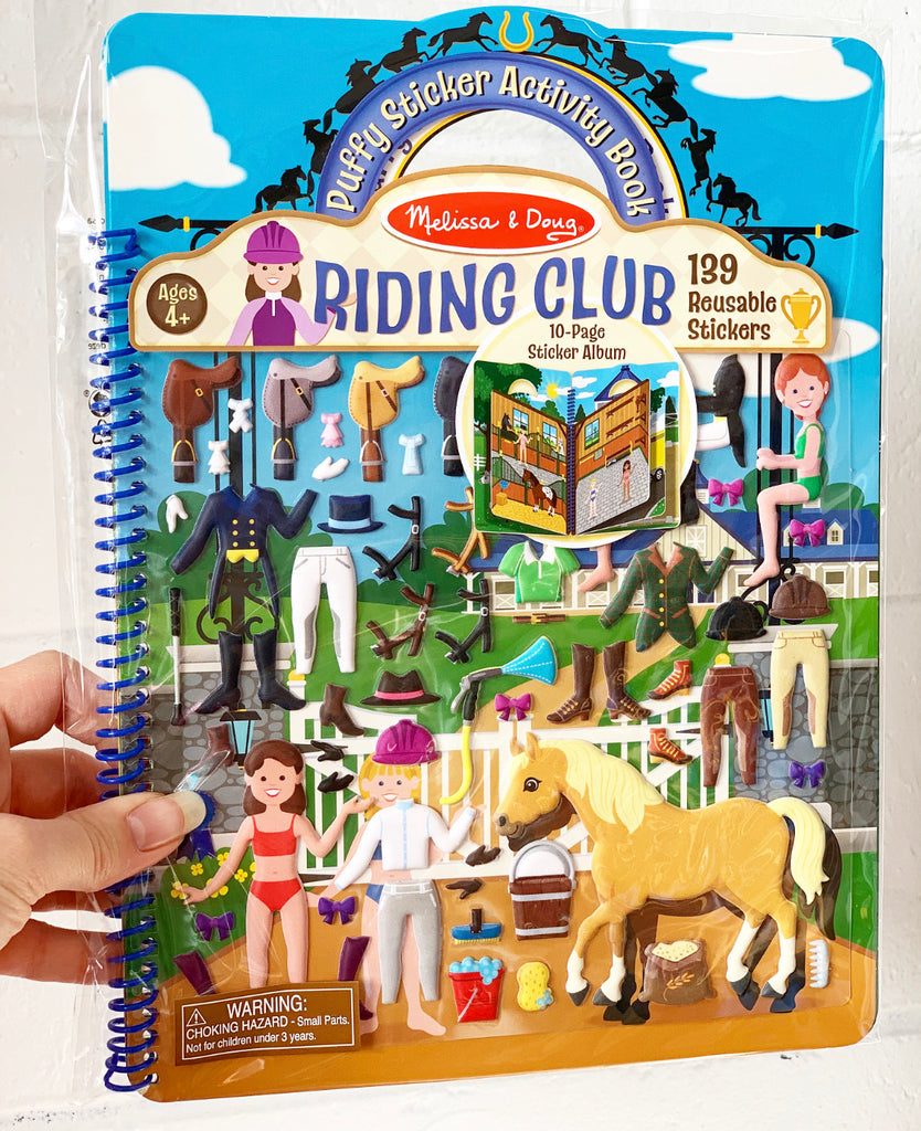 Reusable Puffy Sticker - Riding Club