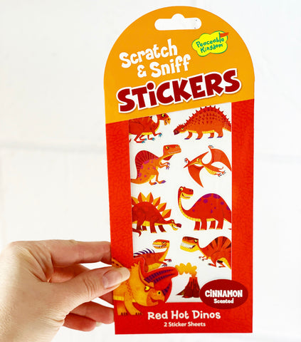 Mini Stickers - Red Hot Dinos - Scratch & Sniff