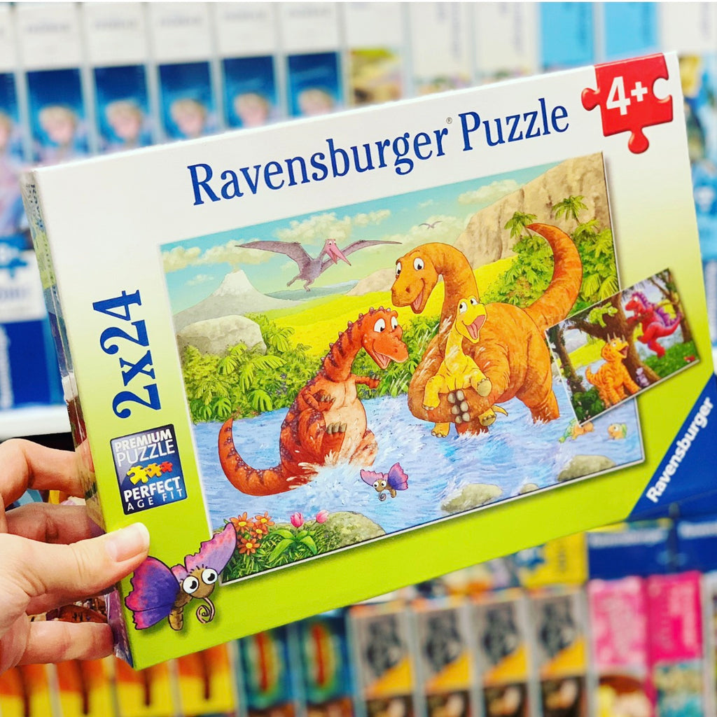 Dinosaurs at Play 2x24 pieces Puzzle